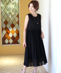 Bou Jeloud/【結婚式 パーティードレス】ロングフィートプリーツワンピース/500433658