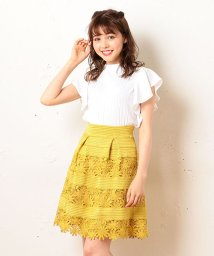 MIIA/★レースゴムフレアスカート/500143800