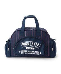 PINK-latte/2WAYストライプボストンバッグ/500435117