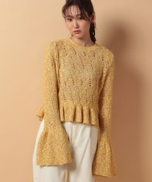 beautiful people/cotton mohair lacepullover/500350095