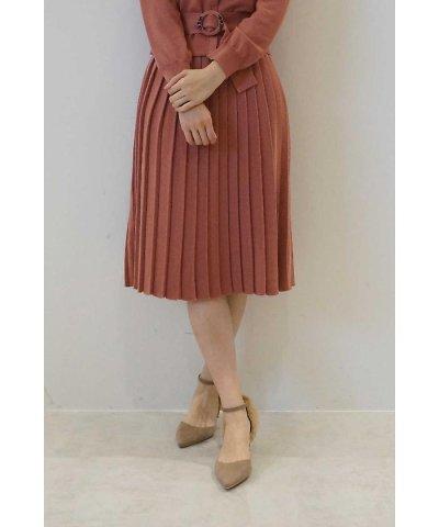 【PROPORTION BODY DRESSING(プロポーション ボディドレッシング)】プリーツニットスカート
