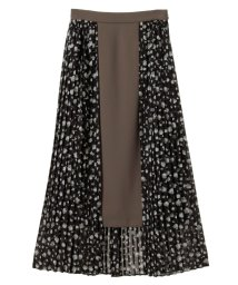 CLANE/【セットアップ対応商品】DROP FLOWER PLEATS LAYERED SKIRT/500432104