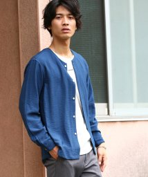 JUNRed/ソフトドレープノーカラーシャツ/500438253