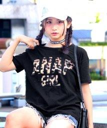 ANAP GiRL/ヒョウ柄ロゴTシャツ/500439819