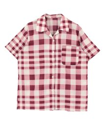 titivate/チェックパターンオープンカラーシャツ/500419852