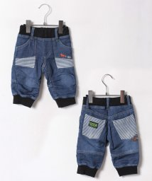 kladskap/アニマル刺繍6分丈裾リブデニムニットパンツ/500440286