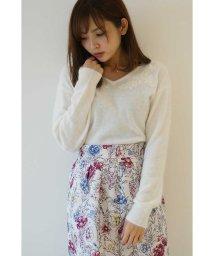 PROPORTION BODY DRESSING/【美人百花 12月号掲載】アンゴラ混刺繍ニット/500442866