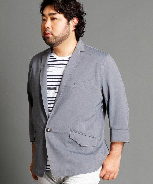 HIDEAWAYS NICOLE L(ハイダウェイニコル(大きいサイズ))/7分袖テーラードジャケット/7404-9900