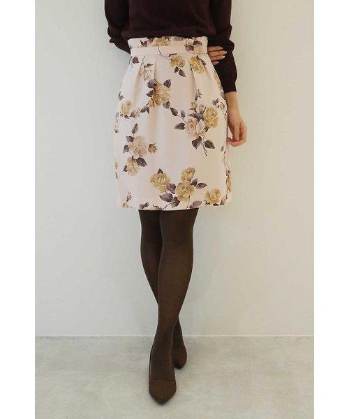 PROPORTION BODY DRESSING(プロポーション ボディドレッシング)/アンティークローズプリントスカート/1217220911
