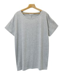 and Me.../Tシャツ レディース 半袖 ビッグT ゆったり ロング丈 チュニック Uネック/500446623