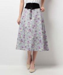 HARYU/【セットアップ対応商品】フラワープリントスカート/10257130N