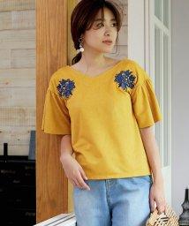 Bou Jeloud/【セットアップ対応商品】刺繍スエード袖フレアブラウス/500442909