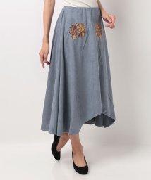 Bou Jeloud/【セットアップ対応商品】刺繍フェイクスウェードヘムスカート/500442910