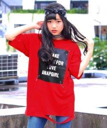 ANAP GiRL/ダメージ加工プリントTシャツ/500443159