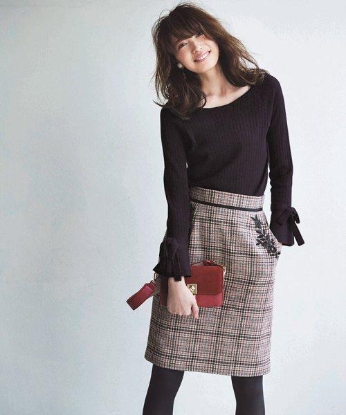 Apuweiser-riche(アプワイザー リッシェ)/【andGIRL 11月号掲載】ポケット刺繍チェックタイトスカート/27432820