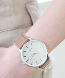 colleca la/しっとりエコレザーベルトの腕時計/queite/500450356