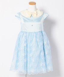anyFAM(KIDS)/【SCHOOL】ポリエステルサテン+刺繍入りオーガンジー ドレスワンピース/500450473