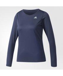 adidas/アディダス/レディス/W D2Mトレーニング定番ロゴワンポイント長袖Tシャツ/500452239