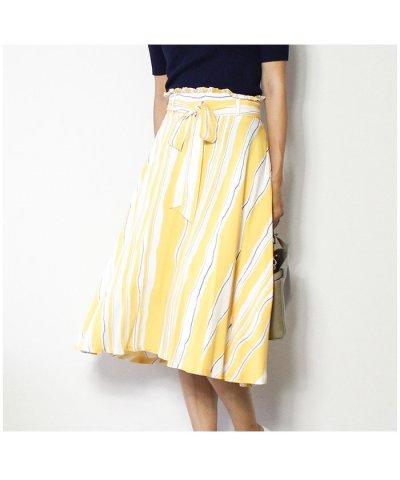 <マガシーク>【MODE ROBE(モードローブ)】ストライプスカート
