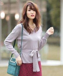 PROPORTION BODY DRESSING/【MAGASEEK/d fashion限定】ウエストリボンニット/500441161