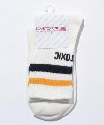 Lovetoxic/【ニコラ11月号掲載】配色ラインクルーソックス/500447697