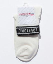 Lovetoxic/配色ロゴリブソックス/500447698