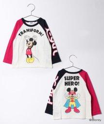 X-girl Stages/DisneyコラボベースボールTシャツ/500447702