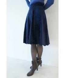 PROPORTION BODY DRESSING/スムースベロアエンブロイダリーフレアスカート/500454288
