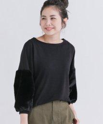 URBAN RESEARCH Sonny Label/袖ファー切替カットソー/500465343