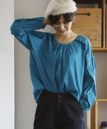 coen/【Market】コットンドビー袖フリルブラウス/500468800