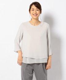 JIYU-KU /【洗える】ロイヤルシフォン ブラウス/500468994
