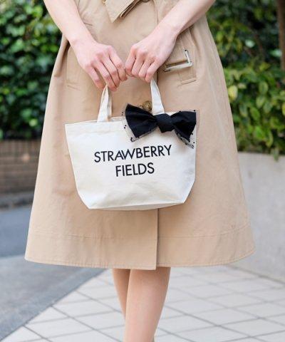 【STRAWBERRY-FIELDS(ストロベリーフィールズ)】【WEB限定】リボントートバッグ