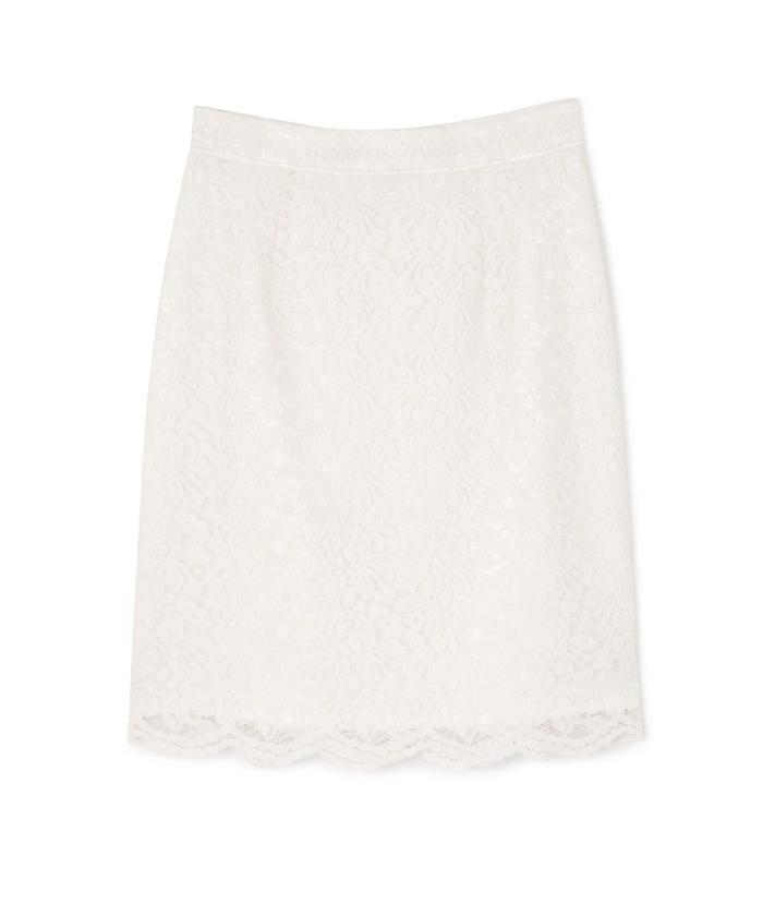 【MAGASEEK/d fashion限定】レースフロッキータイトスカート
