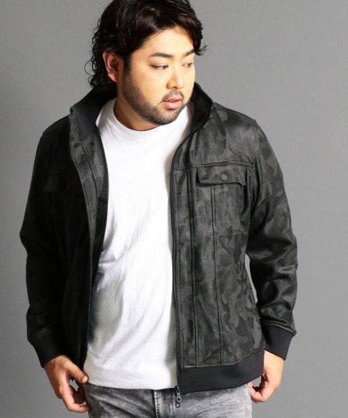 HIDEAWAYS NICOLE L(ハイダウェイニコル(大きいサイズ))/迷彩柄スタンドカラーブルゾン/7504-9906