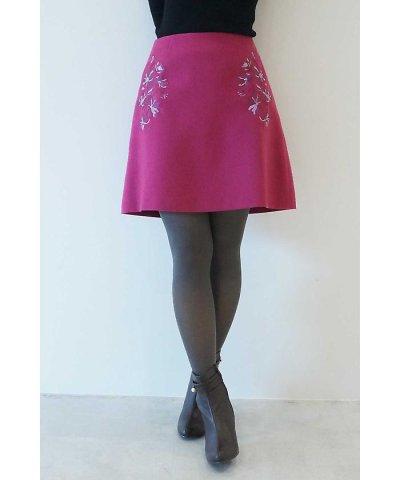 【PROPORTION BODY DRESSING(プロポーション ボディドレッシング)】フラワー刺繍カラーミニスカート