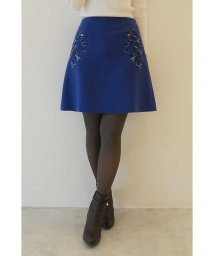 PROPORTION BODY DRESSING/フラワー刺繍カラーミニスカート/500472250