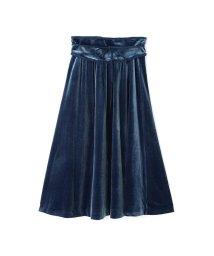 PROPORTION BODY DRESSING/《EDIT COLOGNE》ベロアフレアースカート/500472252