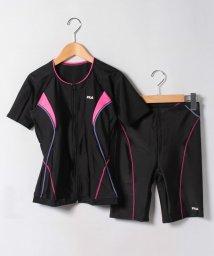 VacaSta Swimwear/【FILA】無地ベーシックフルジップ袖付セパレーツ水着/500458324