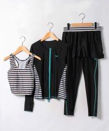 VacaSta Swimwear/FILA】ボーダー切替ベーシックFIT4点セット/500458326