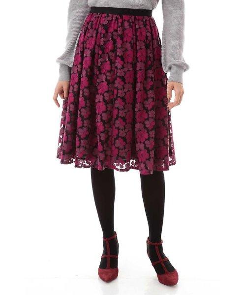 NATURAL BEAUTY(ナチュラル ビューティー)/チュール刺繍スカート/0187220014