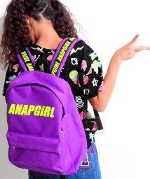 ANAP GiRL/ナナメロゴテープ付リュック/500463800