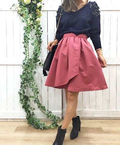 【Noela(ノエラ)】ラップボリュームスカート