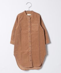 b-ROOM/スタンドカラーロングシャツ/500470771