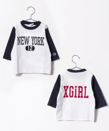 X-girl Stages/XGS×CHAMPION ベースボールハーフスリーブTシャツ/500470916
