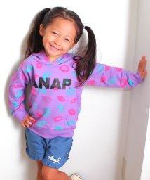 ANAP KIDS/LIP総柄フーディトップス/500471543