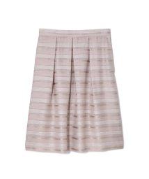 NATURAL BEAUTY LARGE/◆大きいサイズ◆ラメボーダースカート/500480979