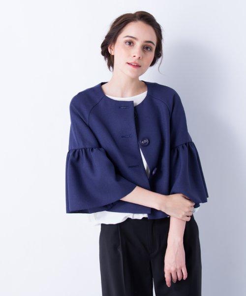 LANVIN en Bleu(ランバン オン ブルー)/【セットアップ対応商品】ボリュームスリーブジャケット/3786206