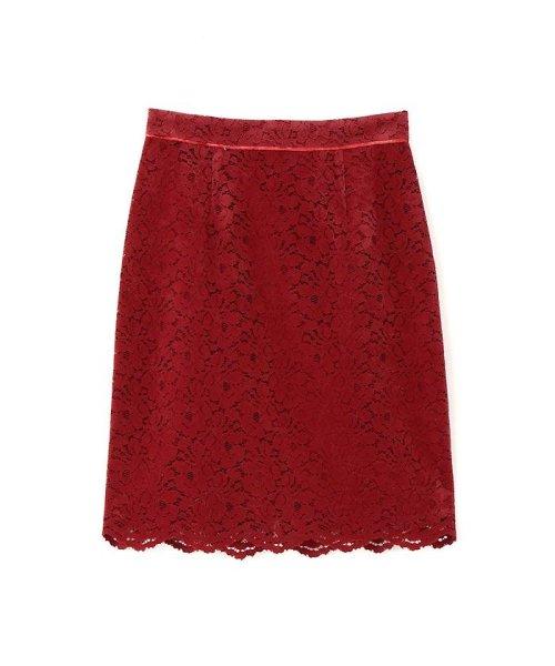 PROPORTION BODY DRESSING(プロポーション ボディドレッシング)/【MAGASEEK/d fashion限定】レースフロッキータイトスカート/1217220912