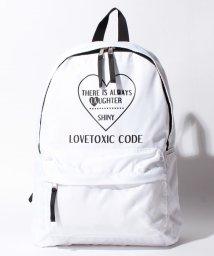 Lovetoxic/ハート×ロゴラウンドデイバッグ/500479830