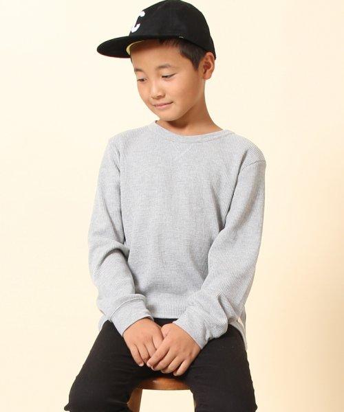 coen(コーエン(キッズ))/【coen キッズ / ジュニア】ワッフルロングスリーブTシャツ(100~150cm)/77206047105